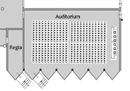 planimetria dell'auditorium
