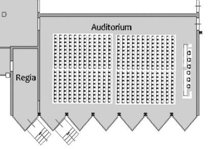 planimetria dell'auditorium