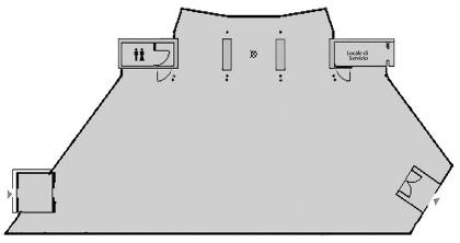 planimetria della sala delle esposizioni temporanee