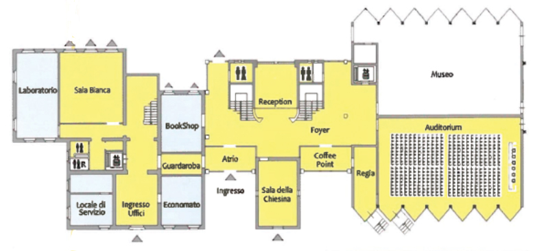 Planimetria del Centro Congressi